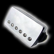 Humbucker Bare Knuckle Black Dog 6 - Chromowana puszka, bridge
